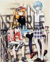 貞本義行「新世紀エヴァンゲリオン」F3キャンバスアート B 【予約:2022年2月発売予定】