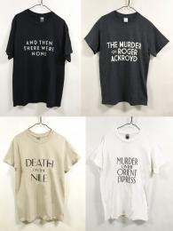 アガサ・クリスティー・デビュー100周年限定版Tシャツ Lサイズ 4種セット 【予約:ご注文から10日程度で発送予定】
